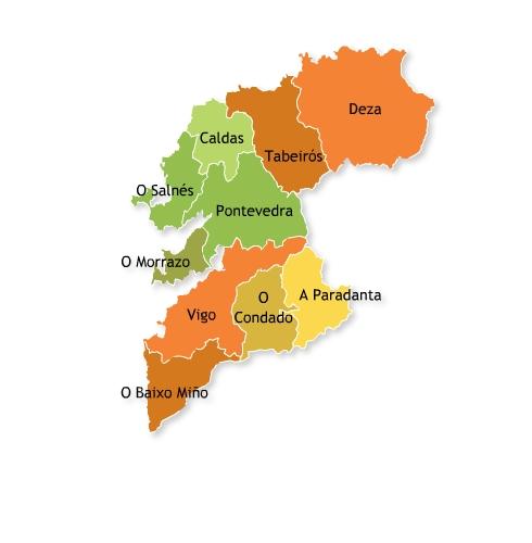 municipios de pontevedra:
